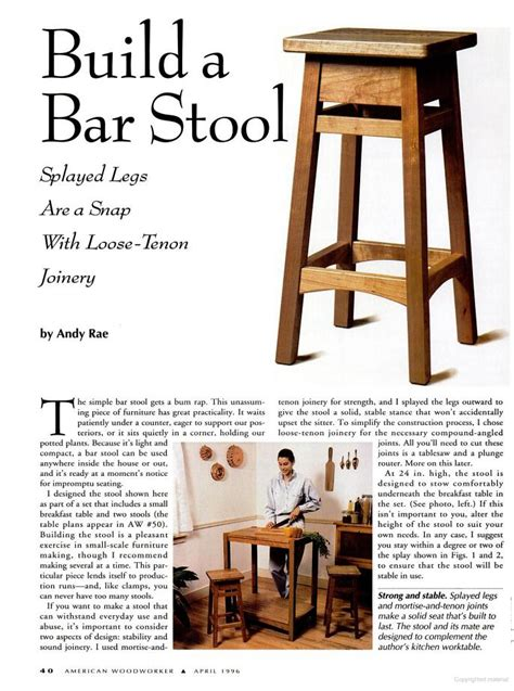 Bar Stool Woodworking Plans by Woodwork Bar Stool Wood Plans Pdf Plans