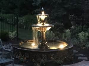 outdoor fountains with lights outdoor lights exterior