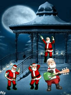 animated  santa claus dancing cell phone wallpaper category holidays