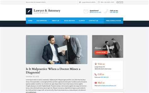 Lawyer And Attorney Law Firm Html5 Responsive Website Template Lawyer Web Templates