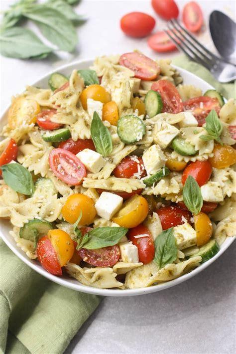 pasta salad pesto pesto pasta salad tastes better from scratch