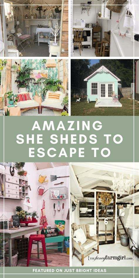 fabulous  shed ideas youll   escape