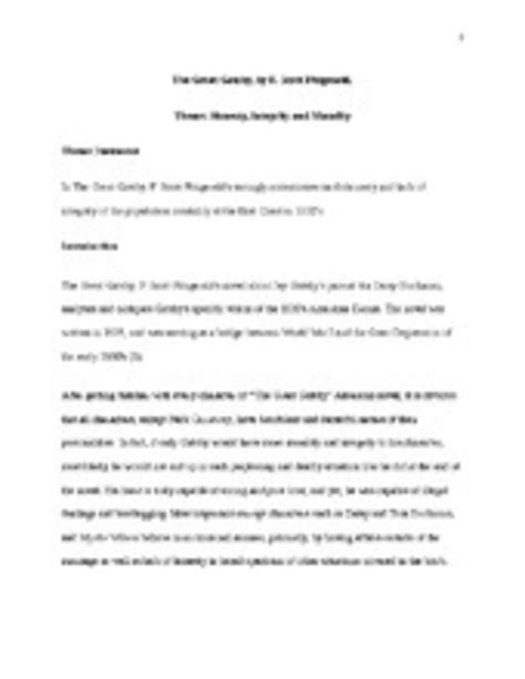 dishonesty theme in the great gatsby essay on honesty essay the great gatsby theme honesty