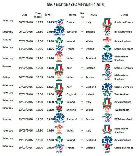 Calendario 6 Nations 2016 6 Naciones P 225 18