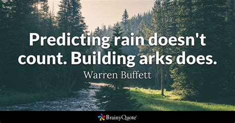 predicting rain doesnt count building arks
