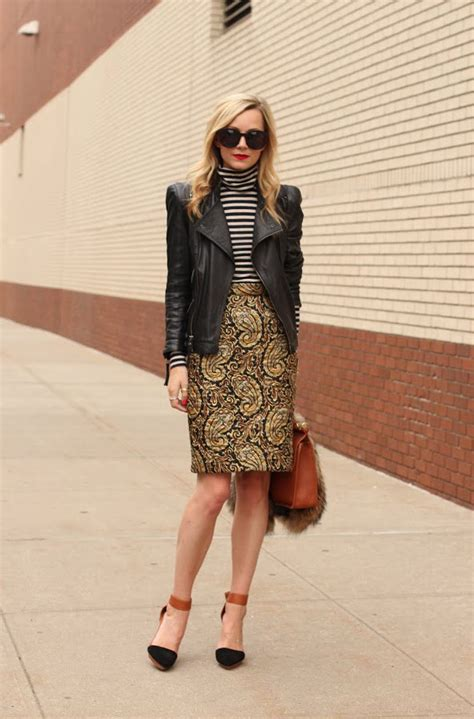 15 ways to style leather jacket with skirts 2018