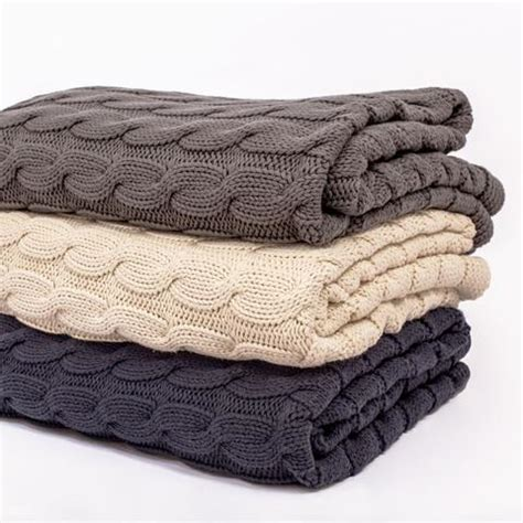 cable knit throw the grey large cable knit throw crane canopy