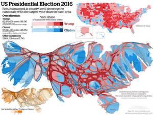 u s presidential election 2016 cartogram maps