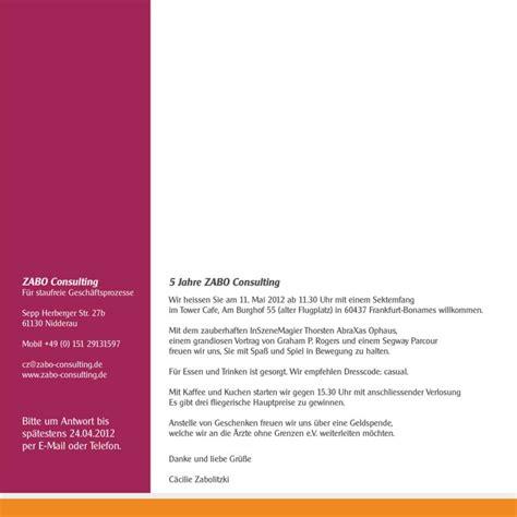 Muster Einladung Kundenevent Einladung Firmenjubil 228 Um Vorlagen
