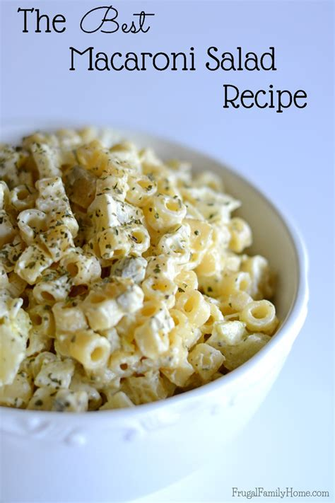 macaroni salad recipes best macaroni salad recipe