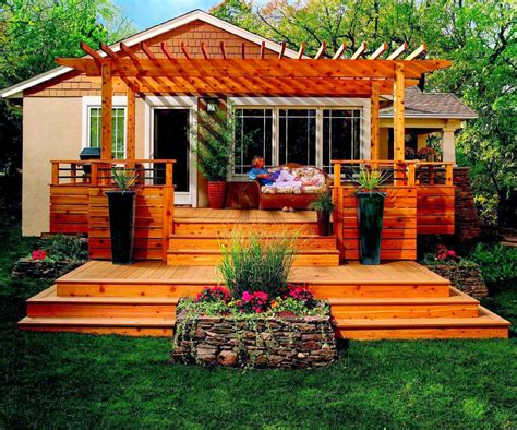 Deck Ideas For Backyard with Awesome Backyard Deck Design