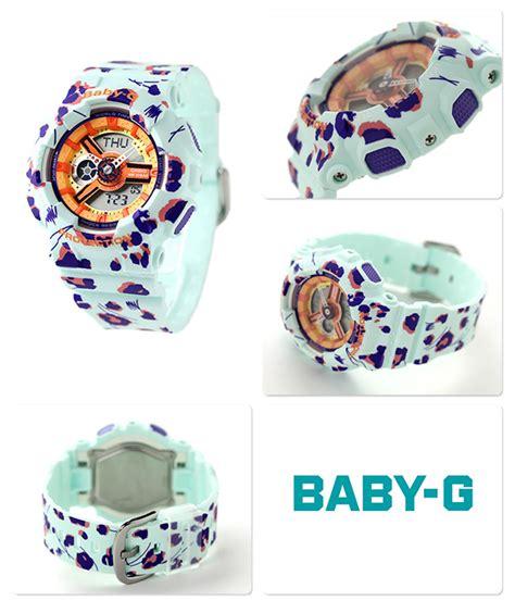 Casio Baby G Original Ba 110fl 3adr nanaple rakuten global market light blue baby g flower leopard series ba 110fl 3adr