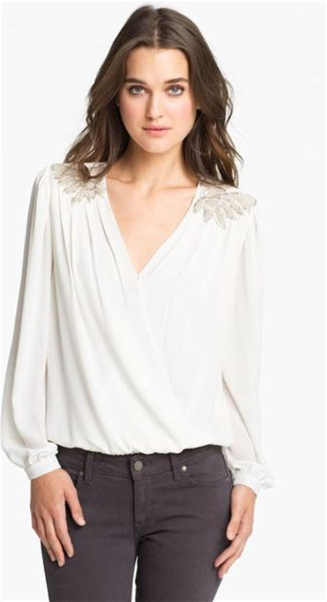 drape front blouse bellatrix drape front blouse in white ivory lyst