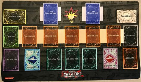 yugioh mat card zone template who s ready for link summoning my newest playmat yugioh