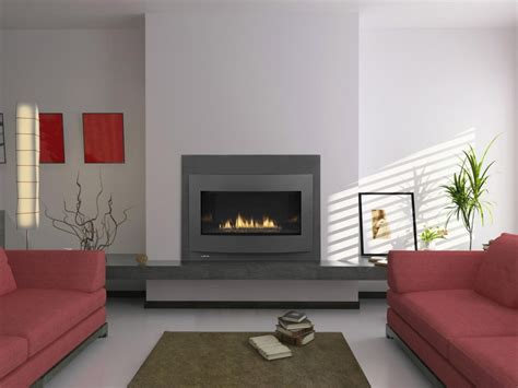 Gorgeous See Trough Contemporary Fireplace Design With
