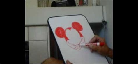 Easy Things To Draw On A Whiteboard by How To Draw Mickey Mouse On A Erase Board 171 Drawing