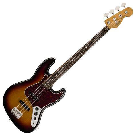 fender classic 60s jazz bass pw 3 tone sunburst at gear4music