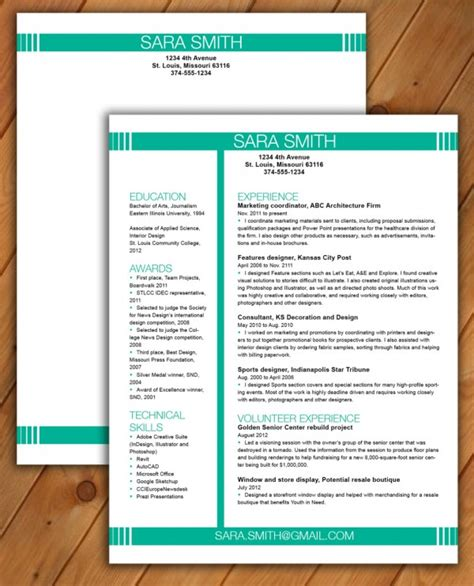 free resume templates that stand out resume ideas