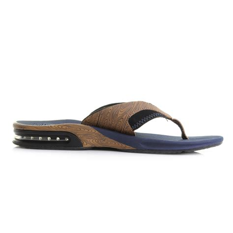 navy mens sandals mens reef fanning prints navy wood toe post sandals flip