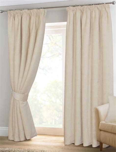 pencil pleat curtains ready made natural cream chenille pencil pleat lined thermal ready
