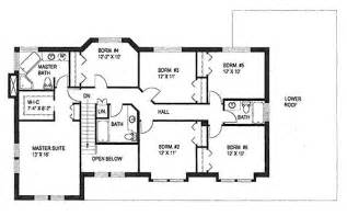 6 bedroom floor plans 2886 square feet 6 bedrooms 4 batrooms 2 parking space