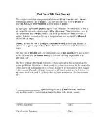 Agreement Letter Between School And Parents Part Time Child Care Contract Hashdoc