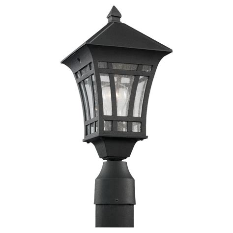 Sea Gull Lighting Herrington 1 Light Outdoor Black Post Seagull Landscape Lighting