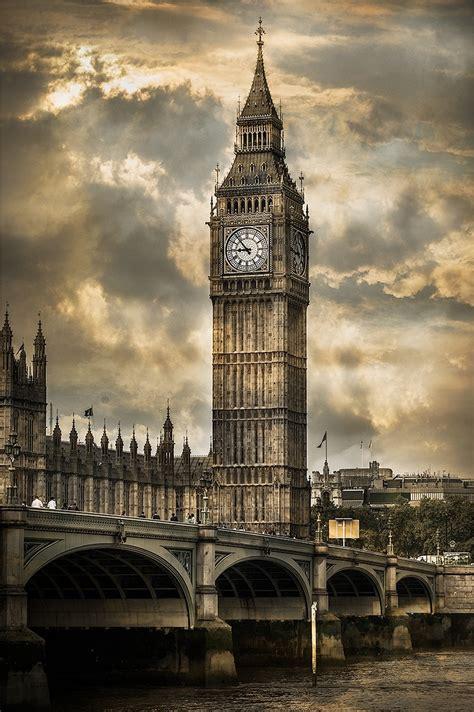 imagenes blanco y negro londres cuadro torre del reloj big ben londres n 186 08