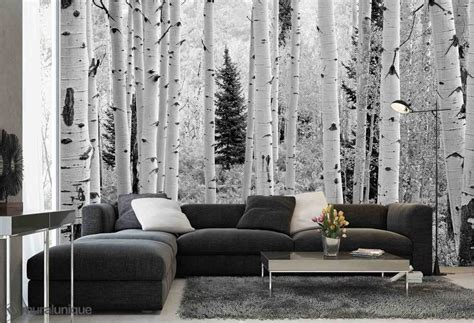 black and white wall mural aspen forest elk mountains colorado black and white buy prepasted wallpaper murals