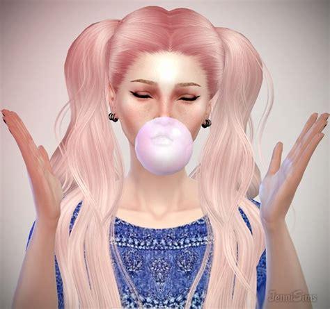 jenni sims new mesh accessory sets bow heart breaker large bubblegum at jenni sims via sims 4 updates sims4