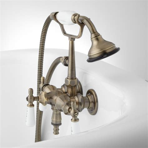 bathtub fixtures with handheld shower woodrow wall mount tub faucet and hand shower tub faucets bathroom