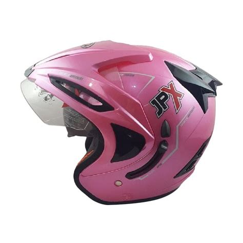 Helm Jpx Supreme jual jpx supreme helm half solid pink