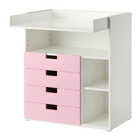 Pink Changing Table Stuva Changing Table With 4 Drawers White Pink Ikea