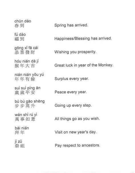 new year sayings pinyin mandarin for 中文一二三