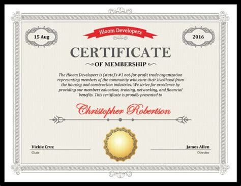 5 certificate of membership templates free download