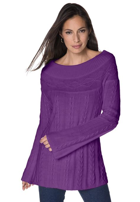cable knit tunic plus size cable knit tunic big style cable