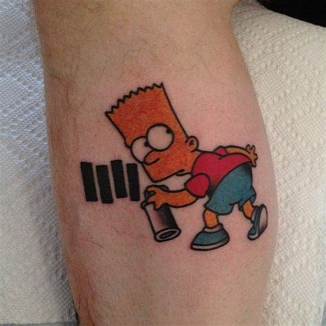 bart simpson tattoo bart black flag black flag