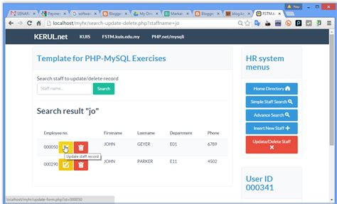 php database template kerul net bootstrap template for php database system