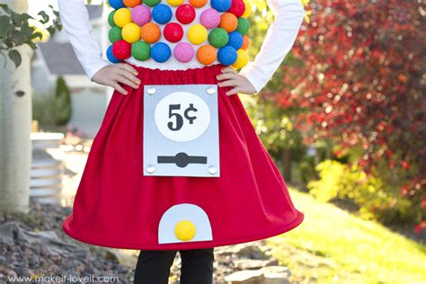 gumball machine costume a low sew project make