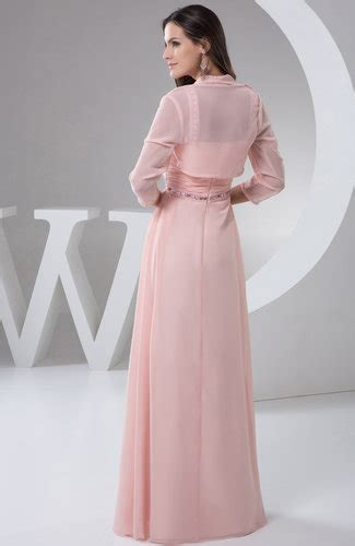 light pink chiffon bridesmaid dress long  size outdoor