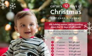 Carter S Gift Card - carter s 12 days of christmas gift card giveaway win a carter s gift card