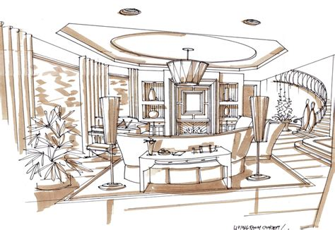 interior design sketches markers drawings and the o jays on pinterest
