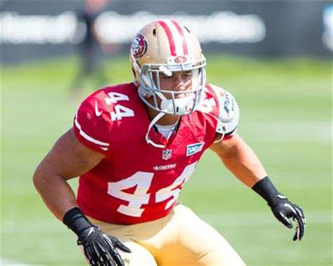 a report on stanford football alums at 49ers training camp