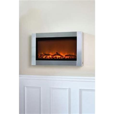 Home Depot Wall Fireplace by Sense 31 In Wall Mount Electric Fireplace In