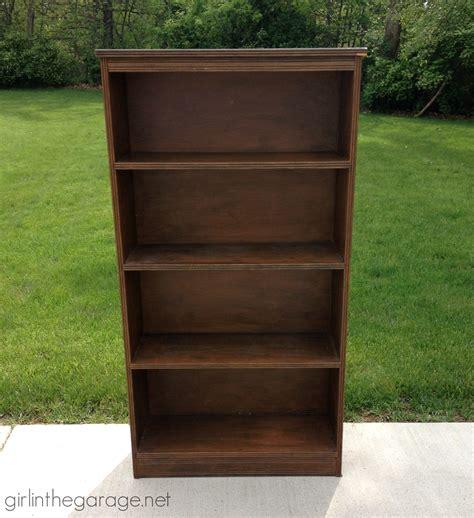 Decoupage Bookshelf - diy decoupage bookcase in the garage 174