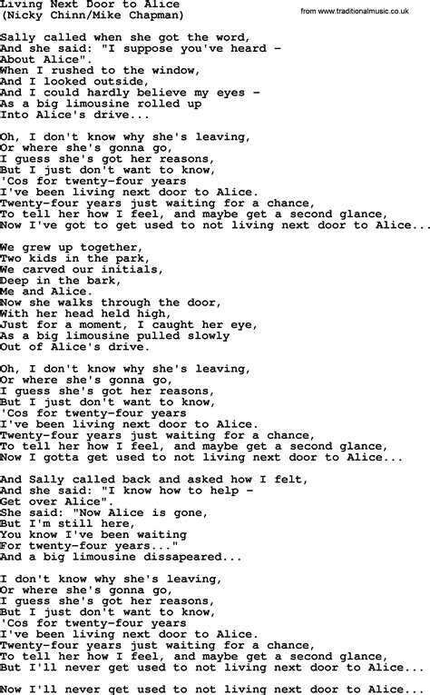 Chords Living Next Door To by Living Next Door To By The Byrds Lyrics With Pdf