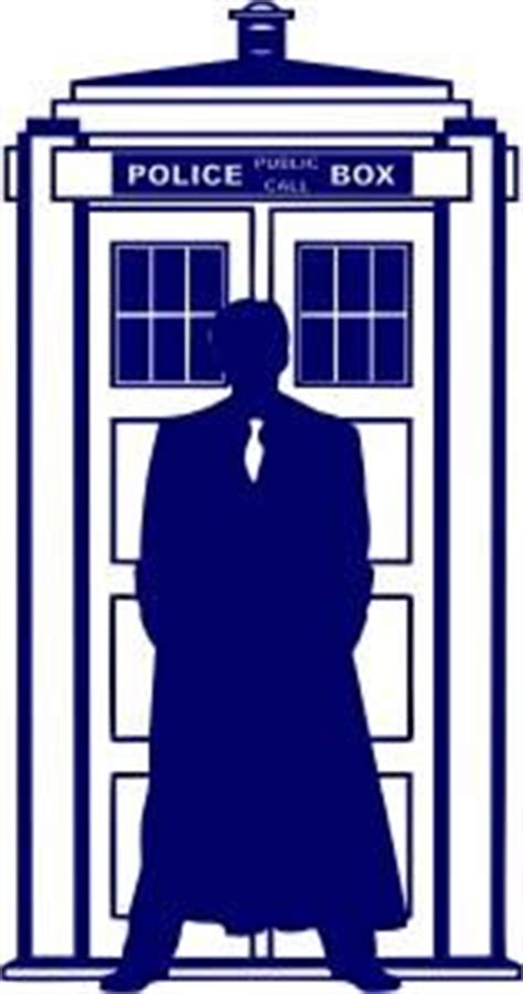 Wall Letter Stickers 10th doctor who silhouette tardis die cut vinyl sticker