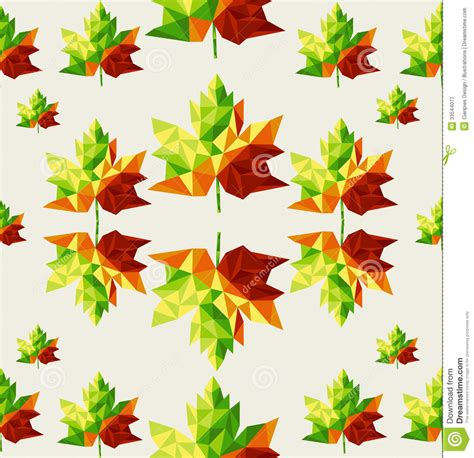 geometric pattern leaf geometric autumn leaves seamless pattern backgroun stock