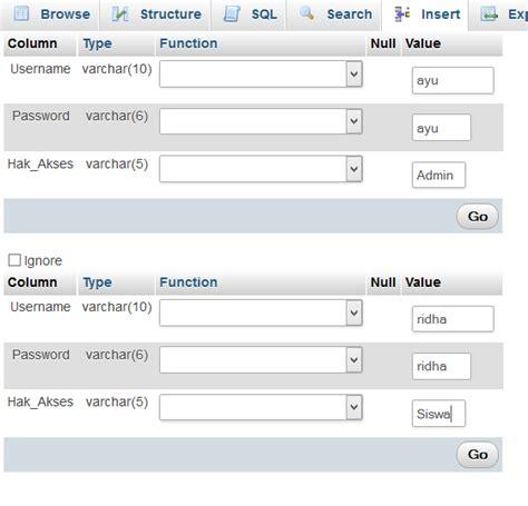 membuat login dengan hak akses php coding in a fun way membuat form login dengan menggunakan