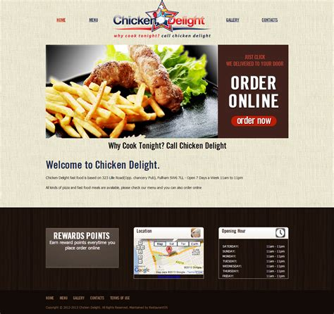 online food order template images templates design ideas
